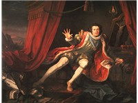 Richard III, Act 5, scene 3: Richard, played by David Garrick, awakens after a nightmare visit by th