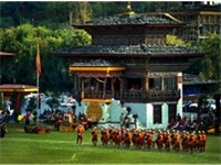 Changlimithang Stadium, during a parade.