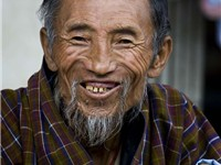 Elderly Bhutanese man