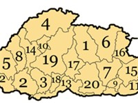 Dzongkhags (districts) of Bhutan.