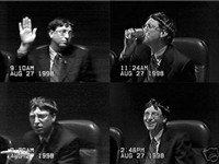 Bill Gates giving his deposition at Microsoft on August 27, 1998