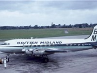 British Midland Canadair C-4 G-ALHG at Manchester 29 August 1965
