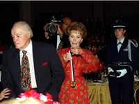 Nancy Reagan presents Hope with the Ronald Reagan Freedom Award, 1997