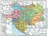 """Distribution of Races in Austria--Hungary"" from the Historical Atlas by William R. Shepherd, 1911."