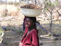 A girl in the Okavango Delta.