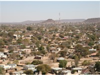 Mochudi, one of the larger villages in Botswana.