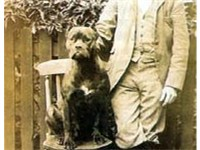 Friedrich Robert and his Boxer, 1894