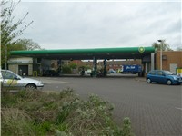 A British BP Shop Petrol Station.