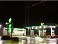 BP gasoline station in Zanesville, Ohio using previous BP prototype.