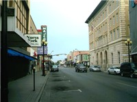 "Picture of Brownsville; on the right is the ""Old Federal Courthouse"", where city commission meetings"