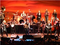 Springsteen and The Sessions Band performing on their tour at the Fila Forum, Milan, Italy on May 12