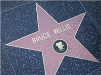 Hollywood Walk of Fame star.