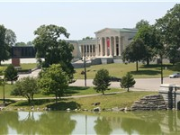 Albright-Knox Art Gallery from Delaware Park (in the back)