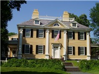 The Longfellow National Historic Site, also known as the Vassall-Craigie-Longfellow House, in Cambri