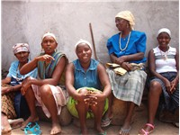 Local people from Santiago island