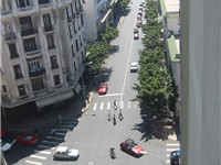 A view on the Boulevard de Paris in central Casablanca