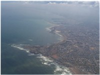 An aerial view of Casablanca