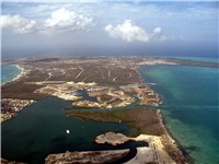 Aerial view of West Bay, Grand Cayman.
