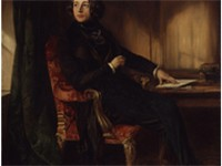 An 1839 portrait of a young Charles Dickens by Daniel Maclise