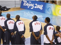Paul, (second from right), helped lead the Redeem Team to the gold medal in the 2008 Beijing Olympic