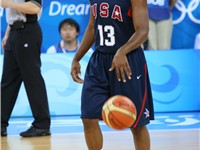 Paul playing at the 2008 Summer Olympics in Beijing.