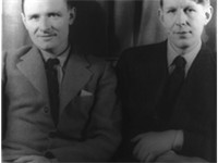 Christopher Isherwood (left) and W. H. Auden (right), photographed by Carl Van Vechten, 1939
