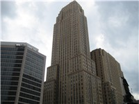 The Carew Tower is not only the tallest building in Cincinnati currently, but also an example of Fre