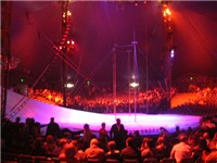 "Inside Cirque du Soleil's ""grand chapiteau"" at Saltimbanco."