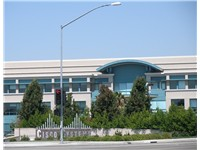 One of the many buildings on the Cisco Systems campus in San Jose