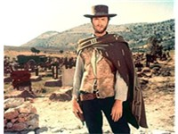 Eastwood as the Man with No Name in The Good, the Bad and the Ugly