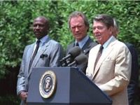Eastwood with President Ronald Reagan in the late 1980s