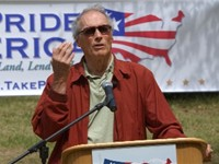 Take Pride in America Spokesman Eastwood in Carmel-by-the-Sea, California
