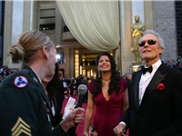 Eastwood with wife Dina in 2007