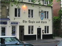 The Eagle and Child pub in Oxford where the Inklings met on Tuesday nights in 1939