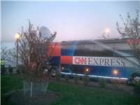 The CNN Election Express bus, used for HD broadcasts.