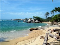 Arrecifes beach in the Tayrona National Natural Park, one of the main ecotourist destinations.
