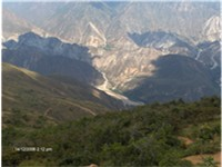 Chicamocha canyon in Santander Department.