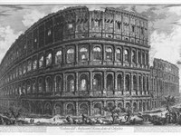 The Colosseum in a 1757 engraving by Giovanni Battista Piranesi