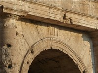 Entrance LII of the Colosseum, with Roman numerals still visible