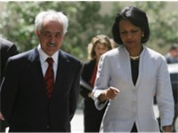 Rice meets with Afghan Foreign Minister Spanta to discuss anti-terrorism efforts
