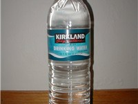 Kirkland Signature branded bottled water