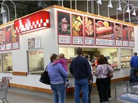 A food concession stand at the Costco warehouse in Overland Park, Kansas