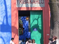La Casa Azul, the home of Frida Kahlo, is now a museum.