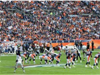 Denver Broncos playing against the San Diego Chargers