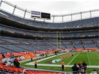 Invesco Field set up for Broncos game