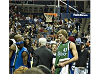 Nowitzki (no. 41) has been the face of the Mavericks franchise.