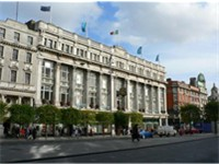 Clerys' department store on O'Connell Street.