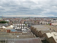 Dublin panoramic view from the Guinness Storehouse