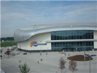 The new ice hockey stadium.