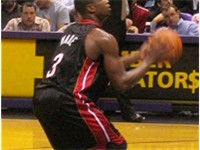 Wade at the free throw line